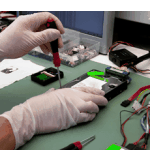 Hardware and software diagnosis of the hard disk, clean room conditions CLASS 5