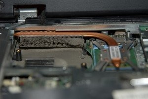 Locked laptop cooling system, dirt and dust, fan failure